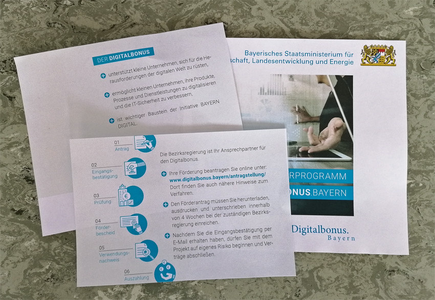 Digital Bonus des Freistaats Bayern, eine gezielte staatliche Förderung für KMU für deren Digitalisierungsprojekte