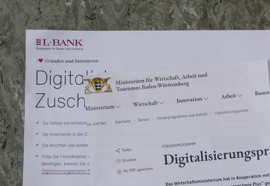Digitalisierungsprämie Plus Baden-Württemberg